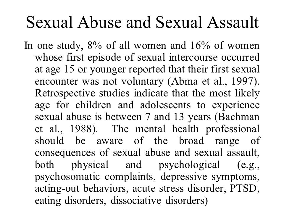 Sexual Abuse and Sexual Assault