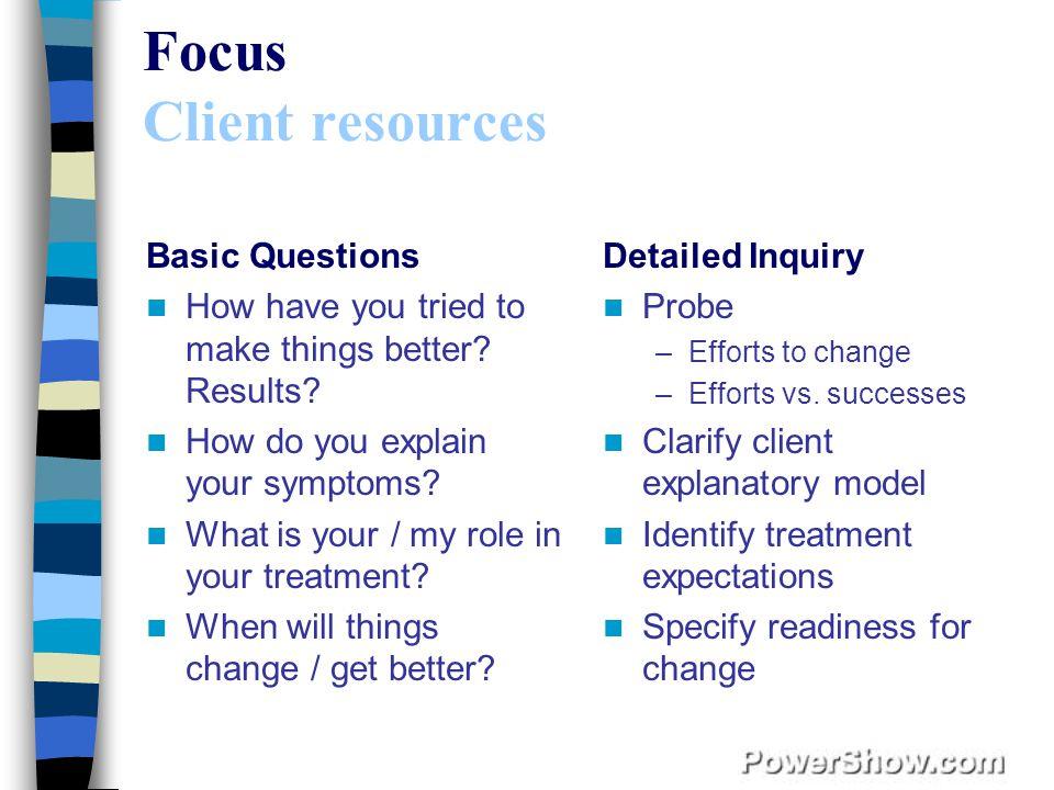 Focus Client resources