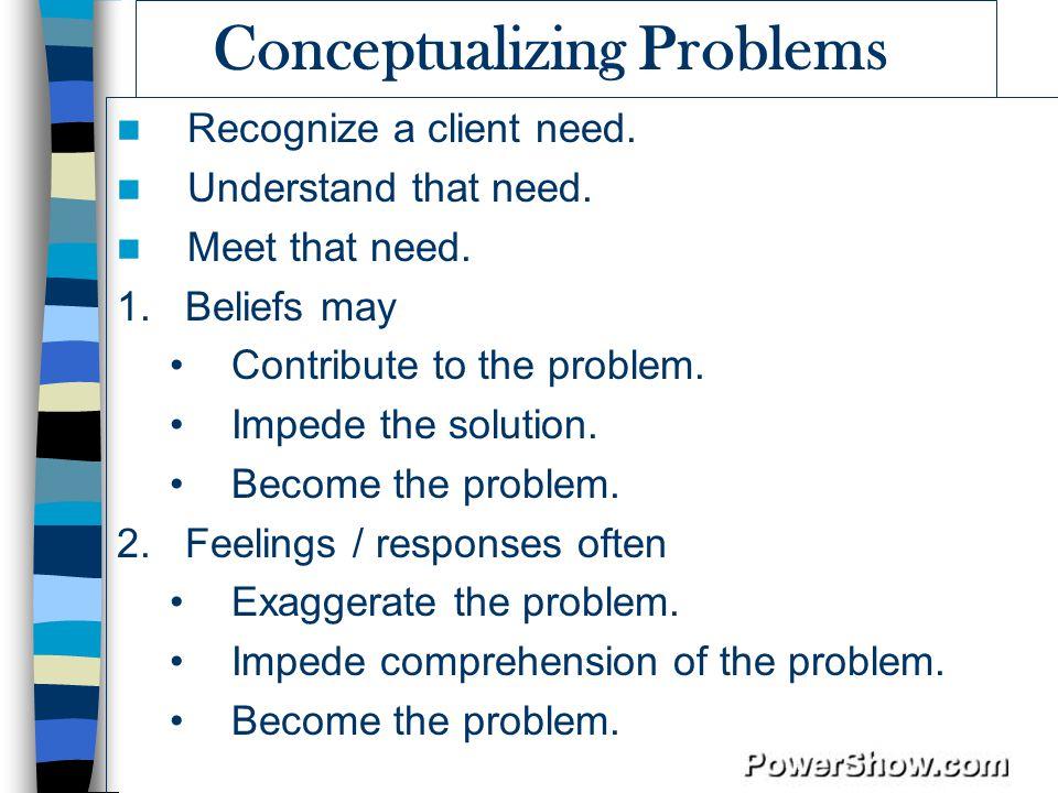 Conceptualizing Problems