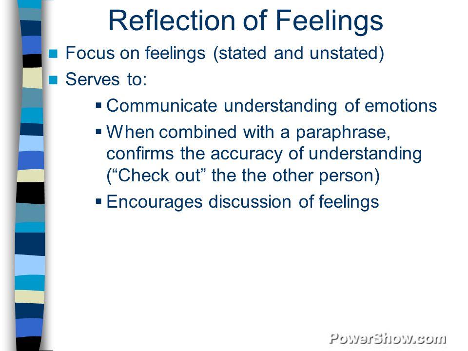 Reflection of Feelings