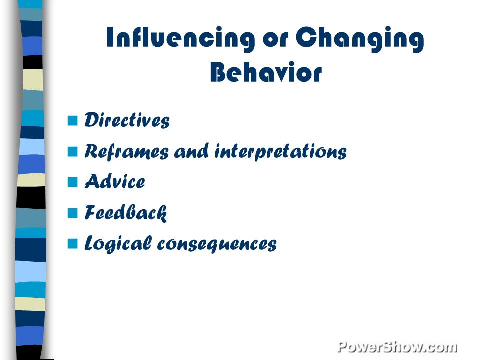 Influencing or Changing Behavior