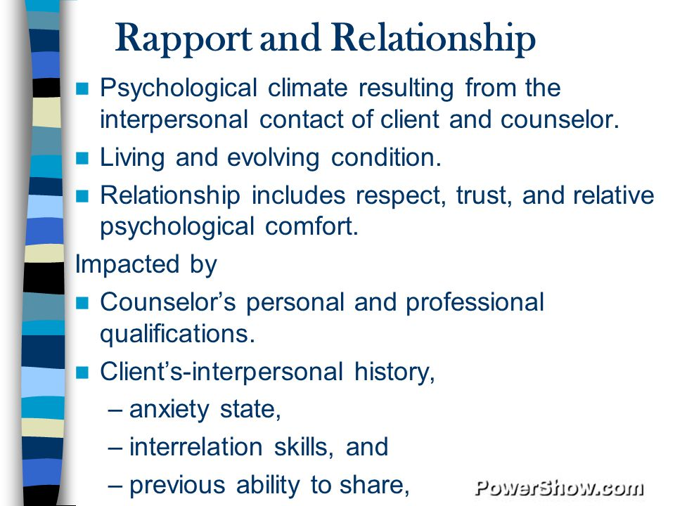 Rapport and Relationship