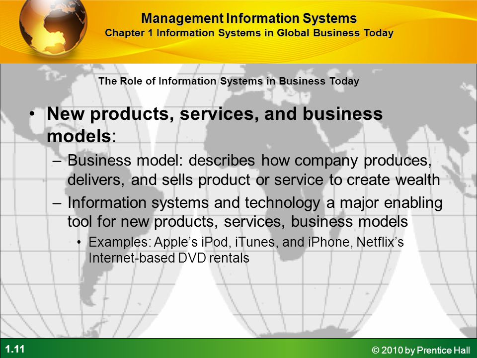 New products, services, and business models: