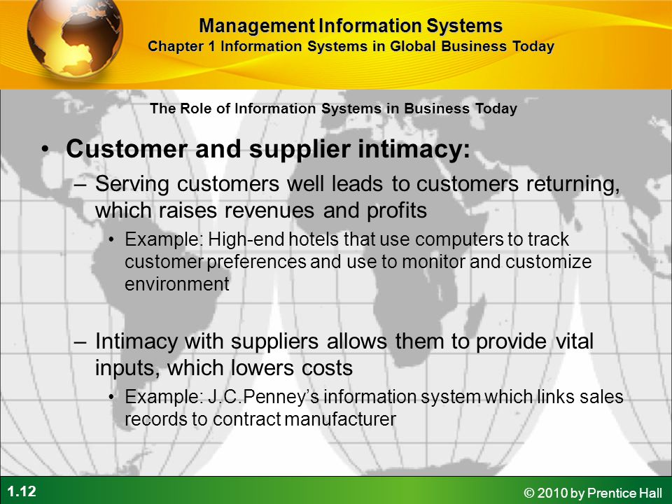 Customer and supplier intimacy: