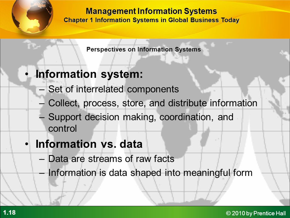 Information system: Information vs. data