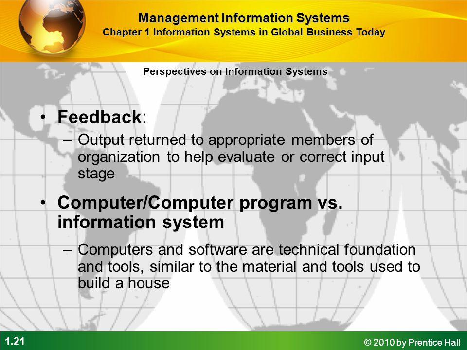 Computer/Computer program vs. information system