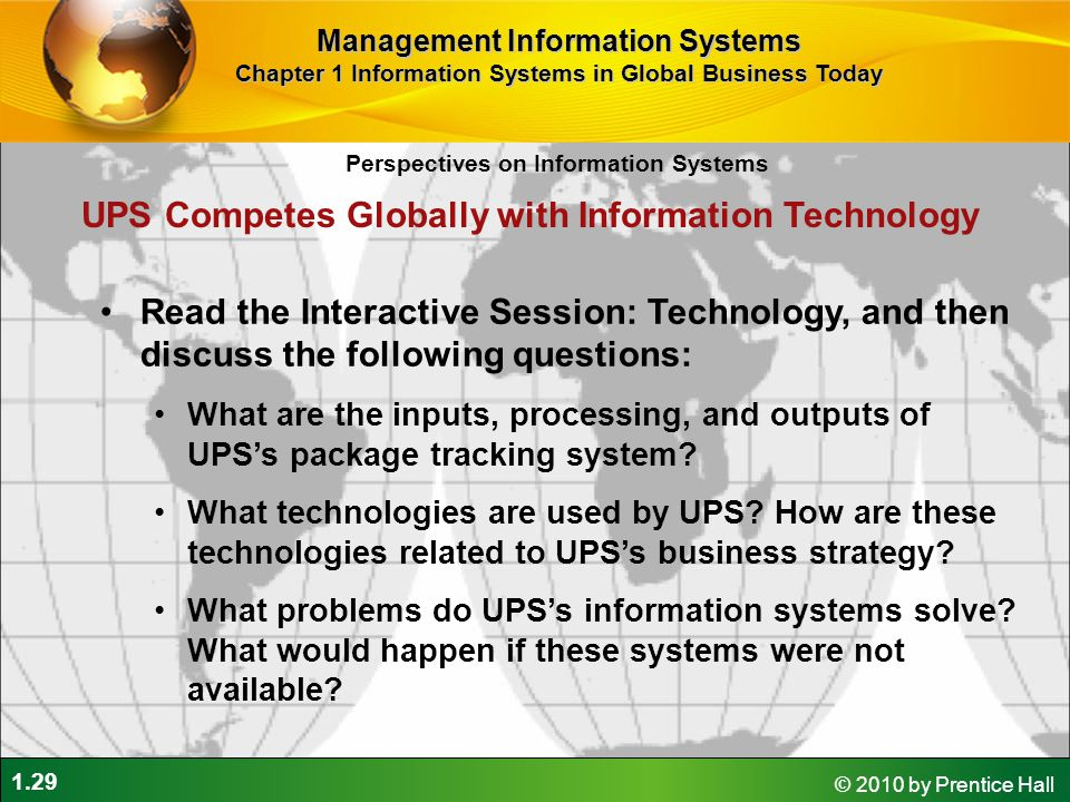 UPS Competes Globally with Information Technology