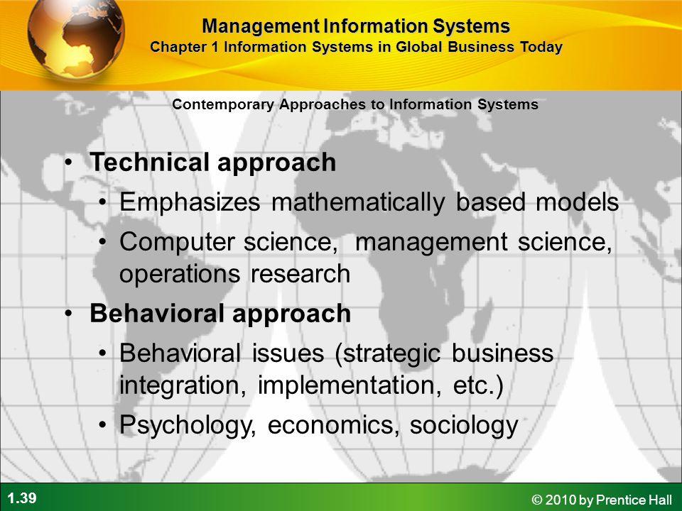 Emphasizes mathematically based models