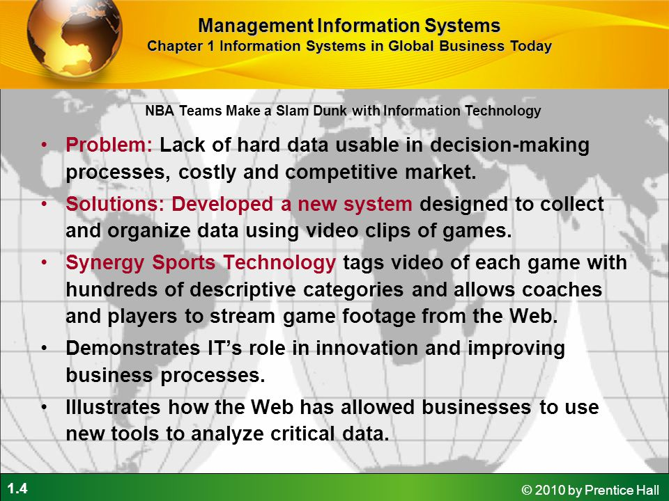 Demonstrates IT's role in innovation and improving business processes.