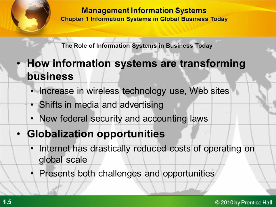 How information systems are transforming business