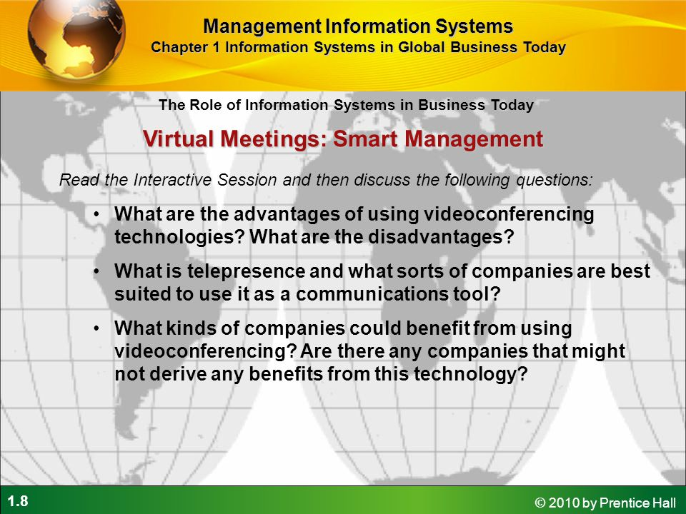 Virtual Meetings: Smart Management
