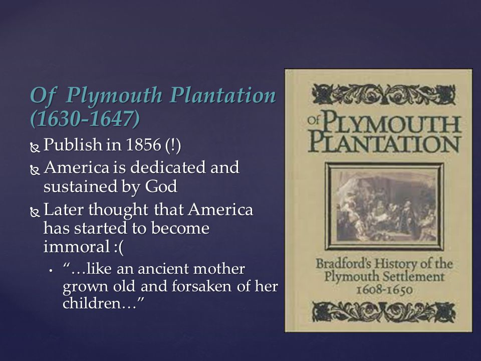 Of Plymouth Plantation (1630-1647)