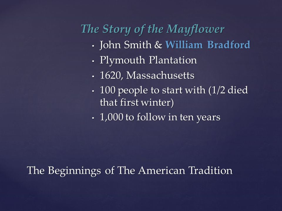 The Beginnings of The American Tradition