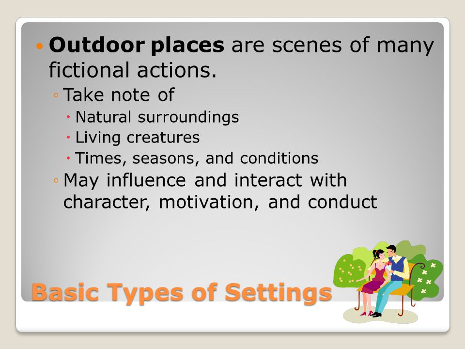 Basic Types of Settings