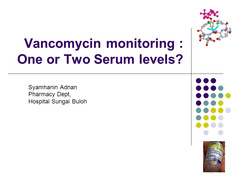 Vancomycin monitoring : One or Two Serum levels