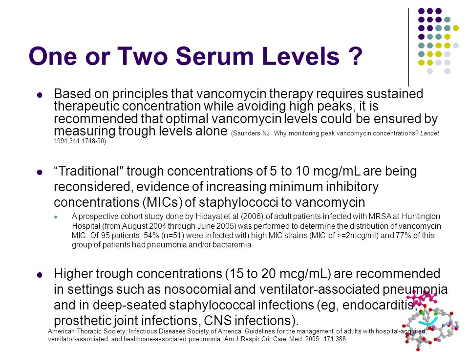 One or Two Serum Levels