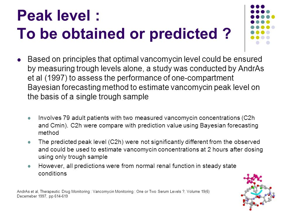 Peak level : To be obtained or predicted