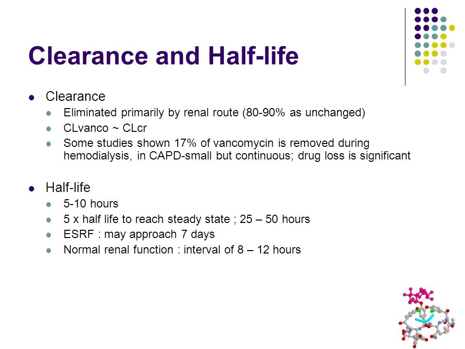 Clearance and Half-life