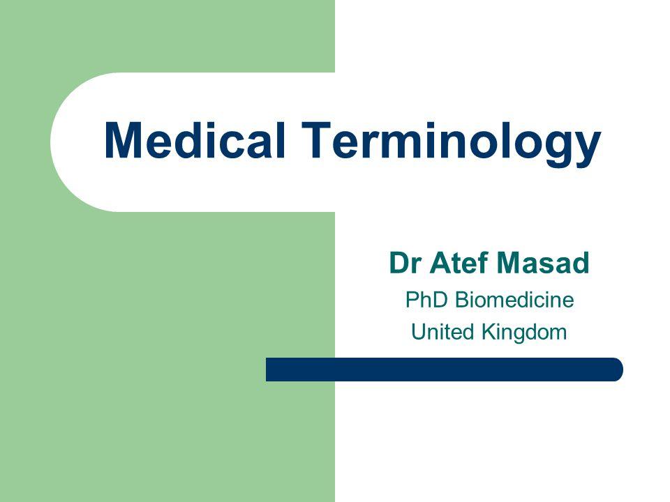 Dr Atef Masad PhD Biomedicine United Kingdom