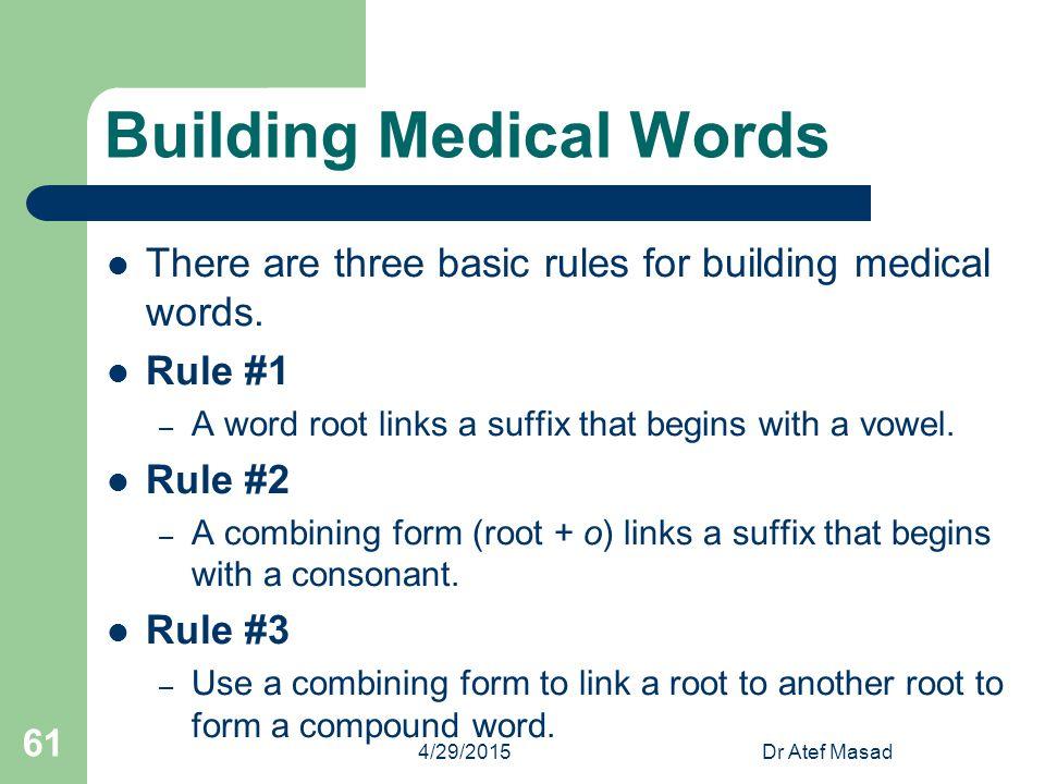 Building Medical Words