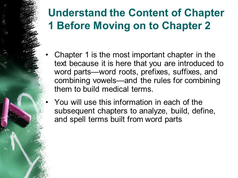 Understand the Content of Chapter 1 Before Moving on to Chapter 2