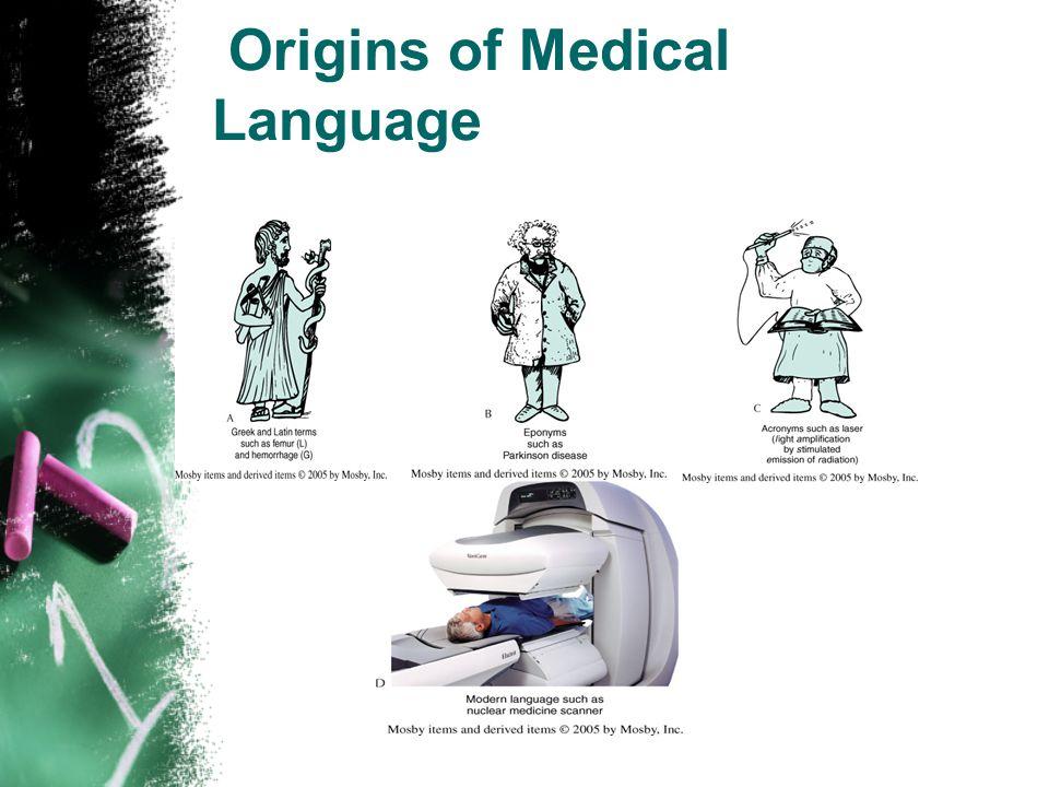 Origins of Medical Language