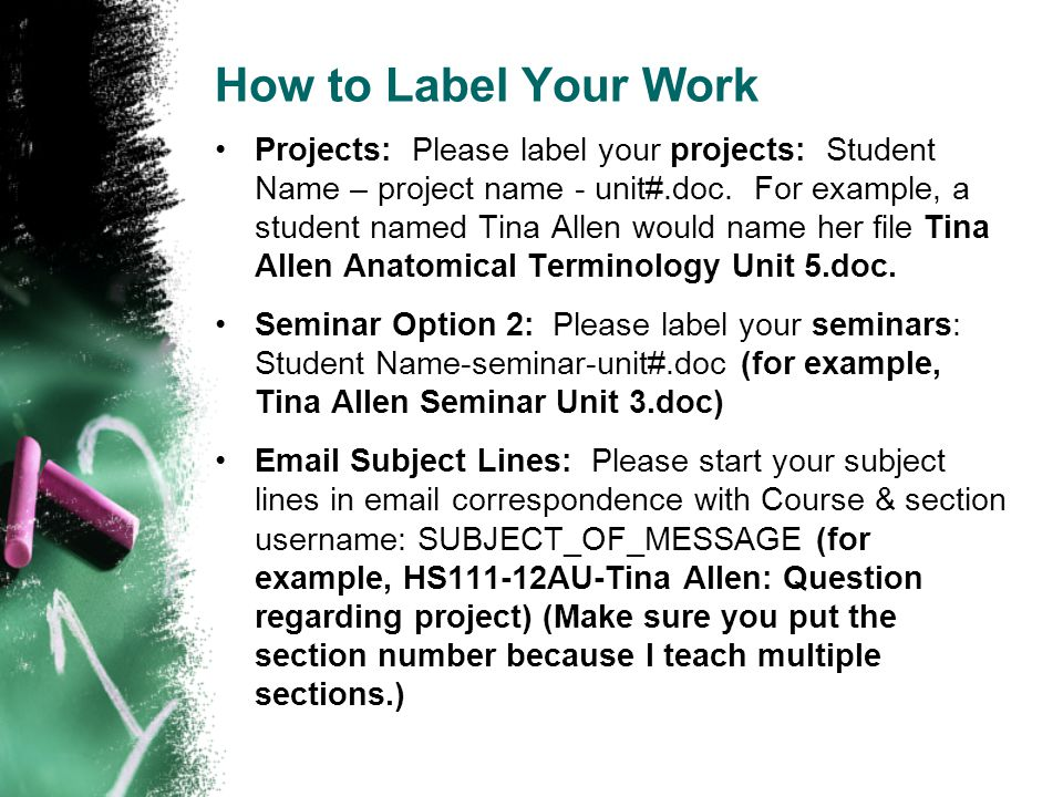 How to Label Your Work