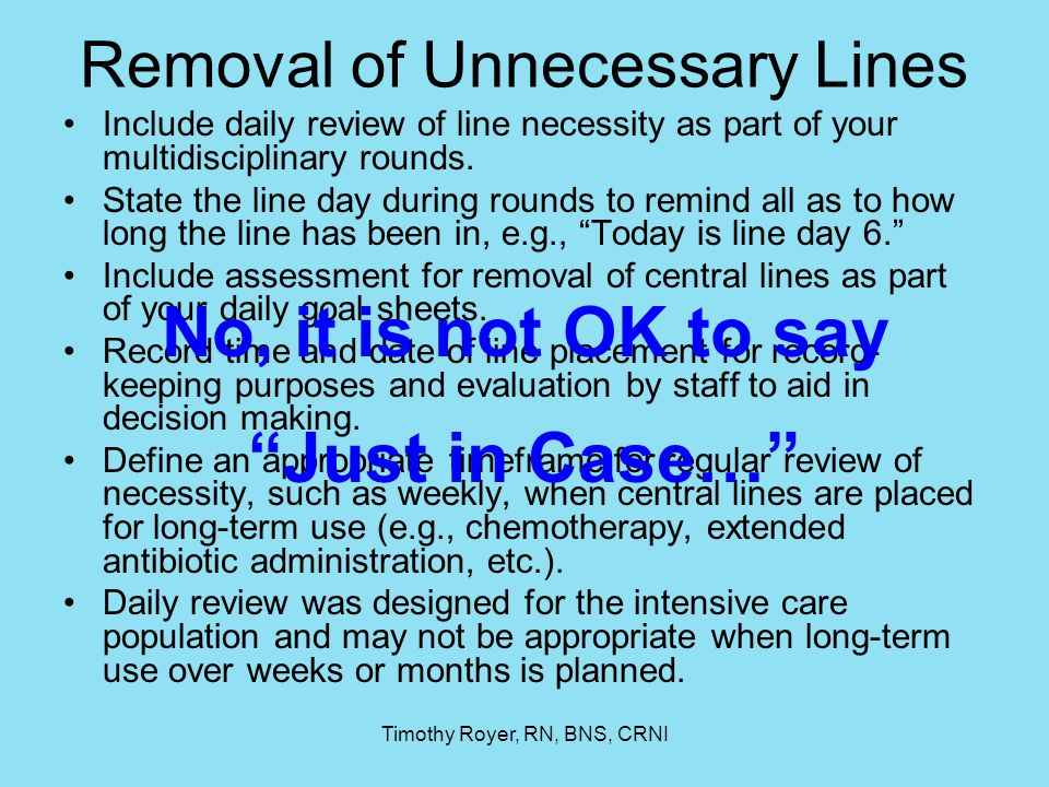Removal of Unnecessary Lines