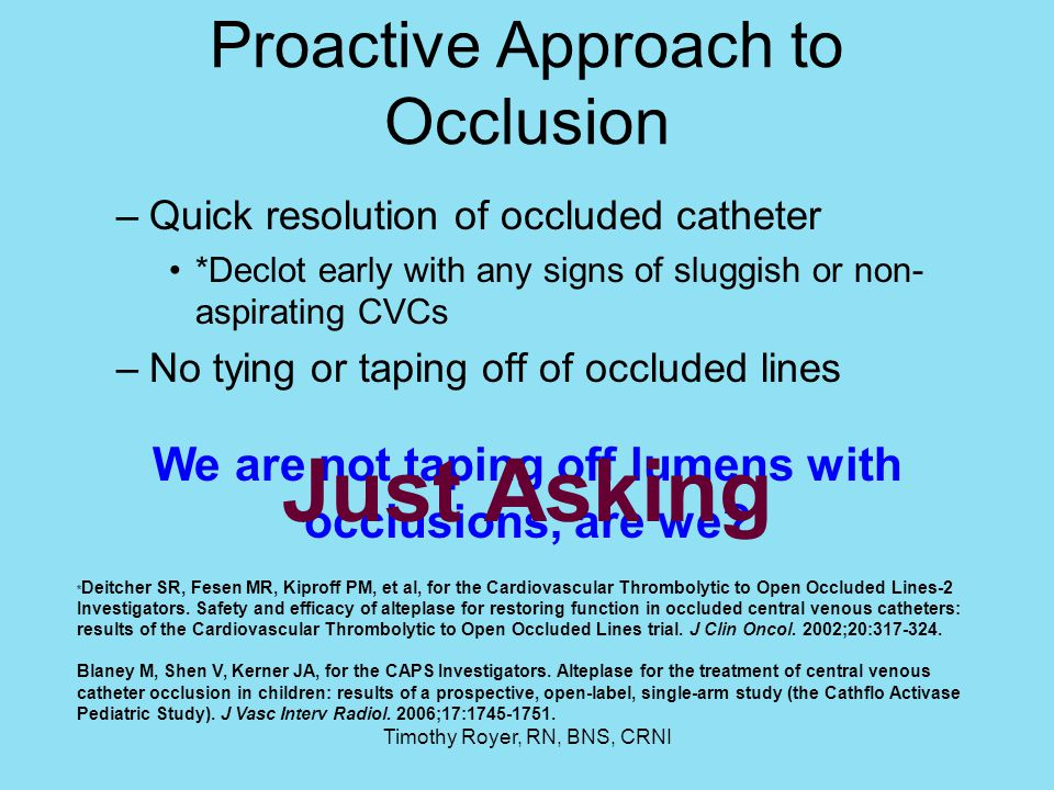 Proactive Approach to Occlusion