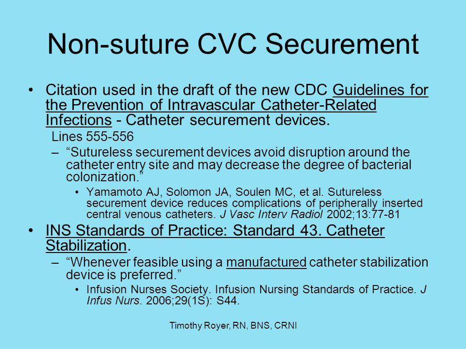 Non-suture CVC Securement