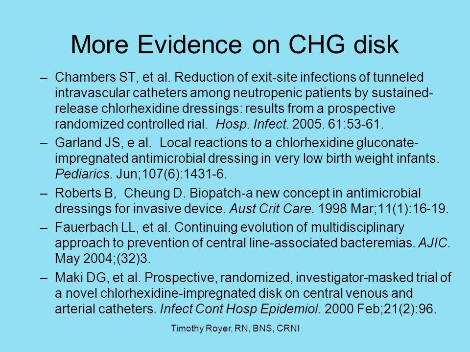 More Evidence on CHG disk