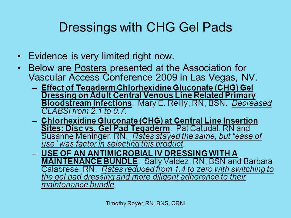 Dressings with CHG Gel Pads