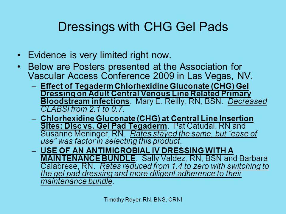 Dressings with CHG Gel Pads