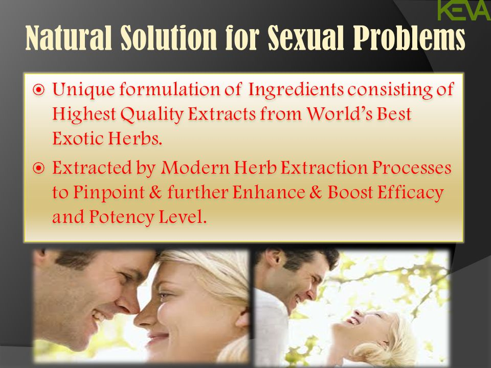 Natural Solution for Sexual Problems