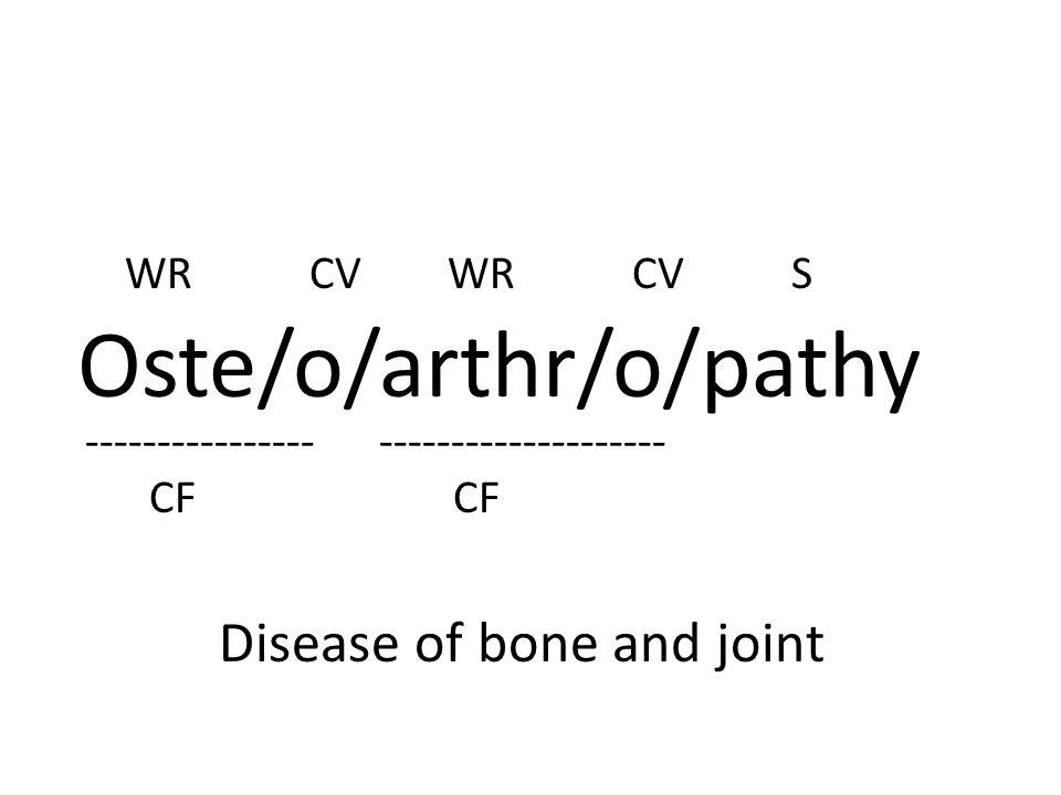 Oste/o/arthr/o/pathy