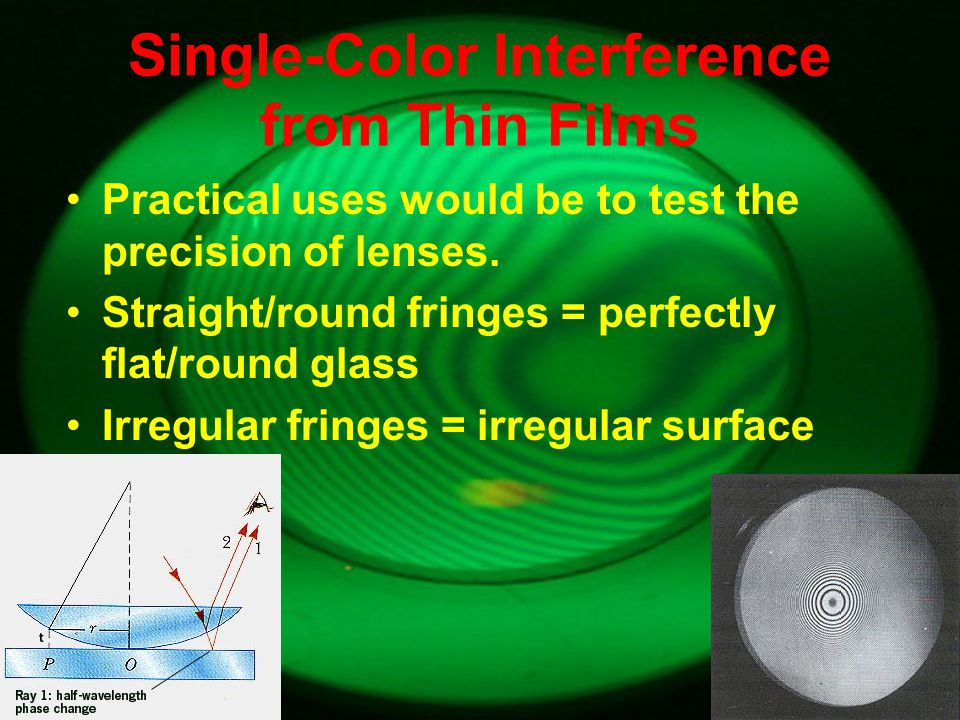 Single-Color Interference from Thin Films