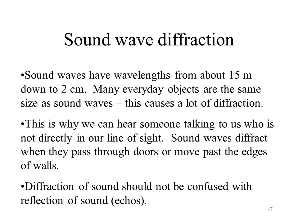 Sound wave diffraction