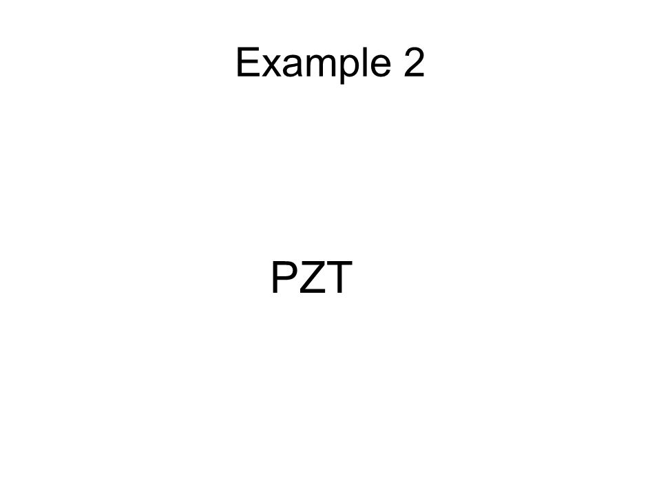 Example 2 PZT