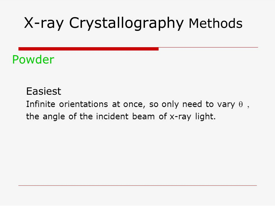 X-ray Crystallography Methods