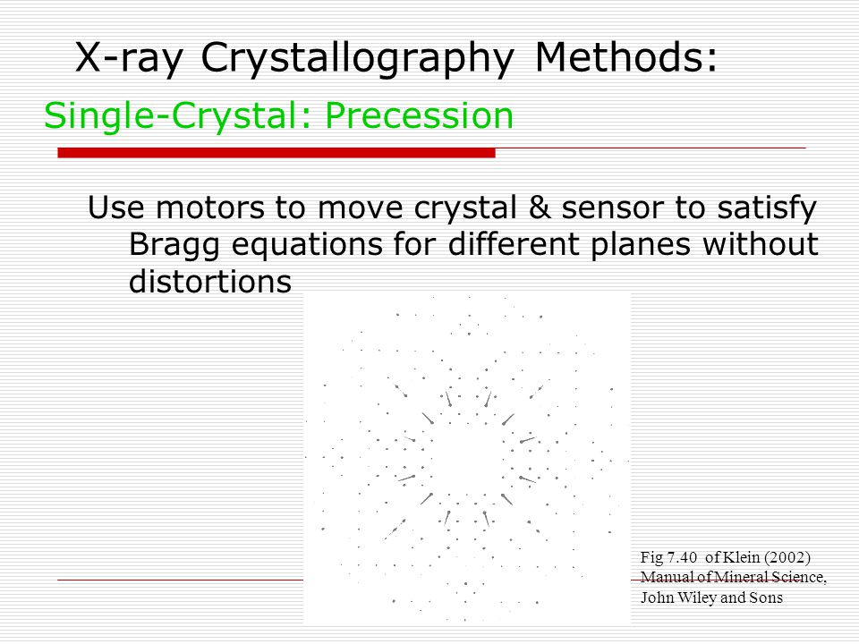 X-ray Crystallography Methods: