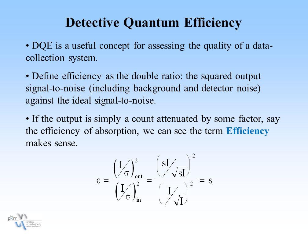 Detective Quantum Efficiency