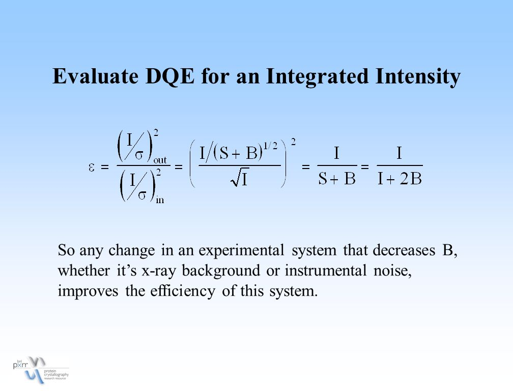 Evaluate DQE for an Integrated Intensity