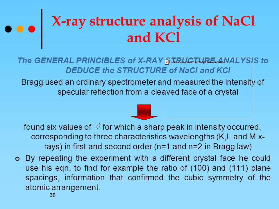 X-ray structure analysis of NaCl and KCl