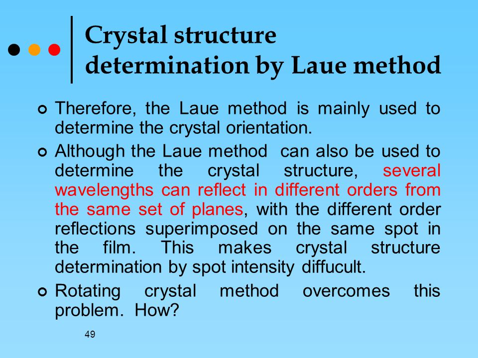 Crystal structure determination by Laue method
