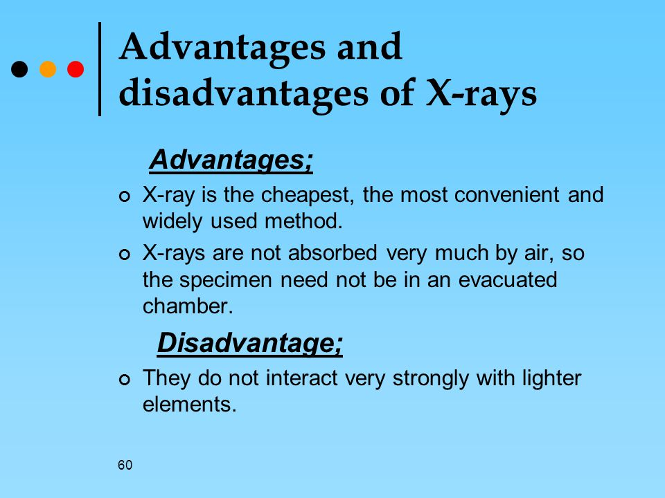 Advantages and disadvantages of X-rays