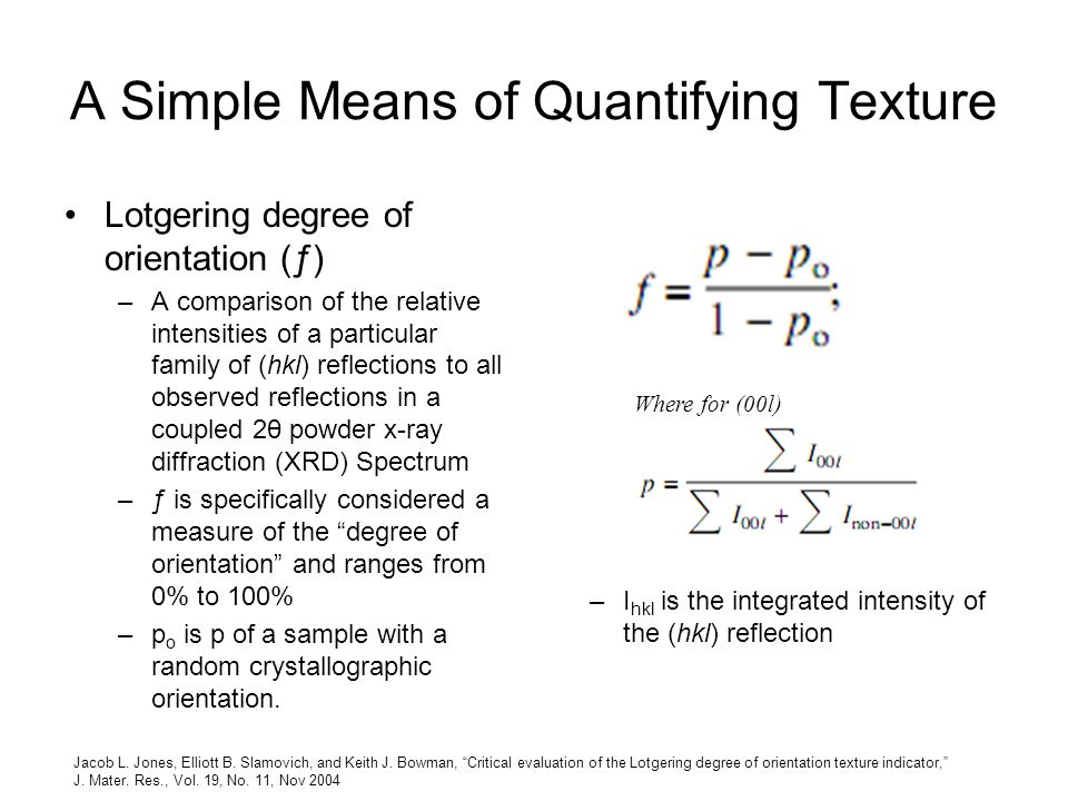 A Simple Means of Quantifying Texture
