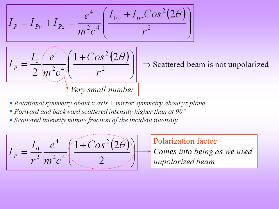  Scattered beam is not unpolarized