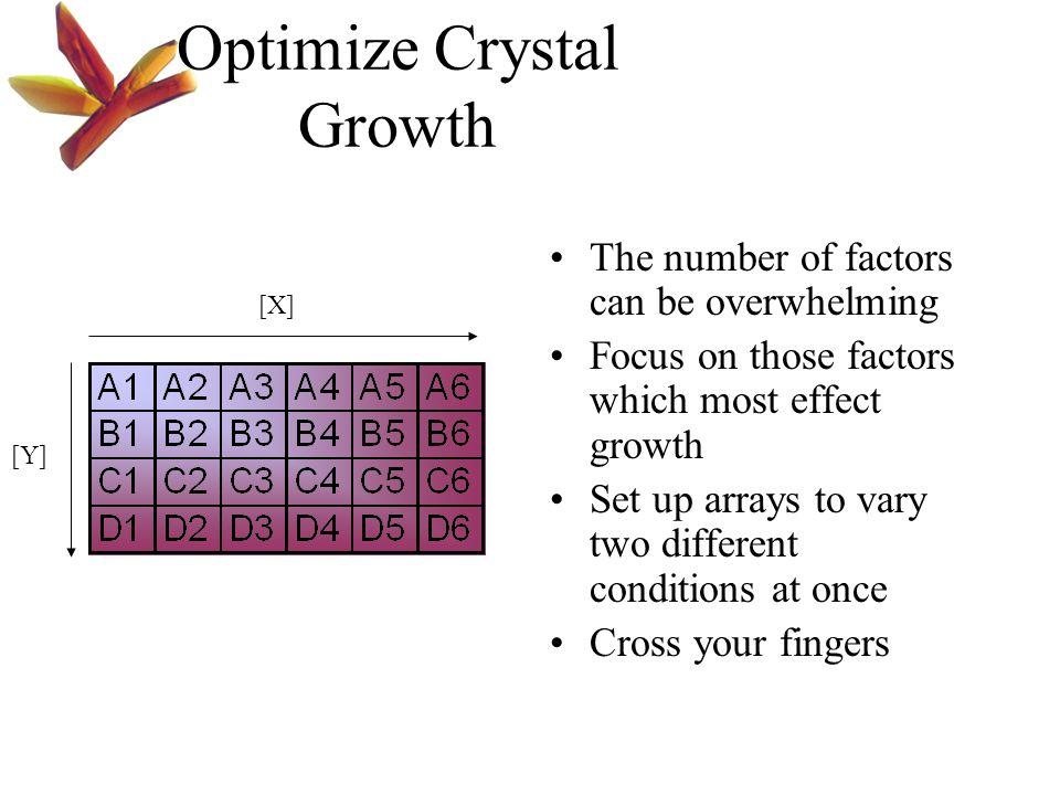 Optimize Crystal Growth