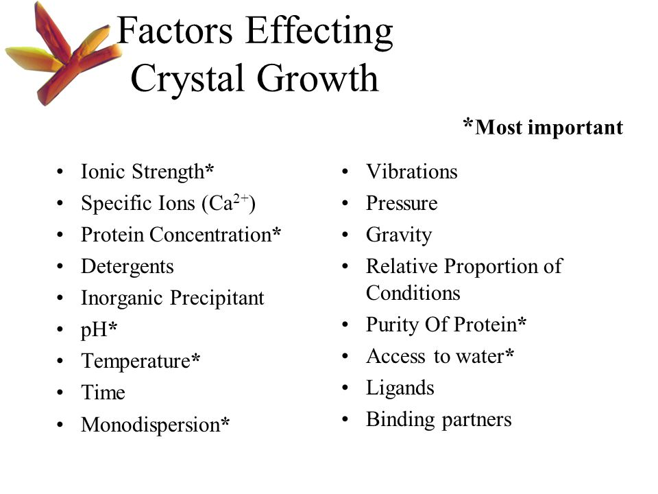 Factors Effecting Crystal Growth