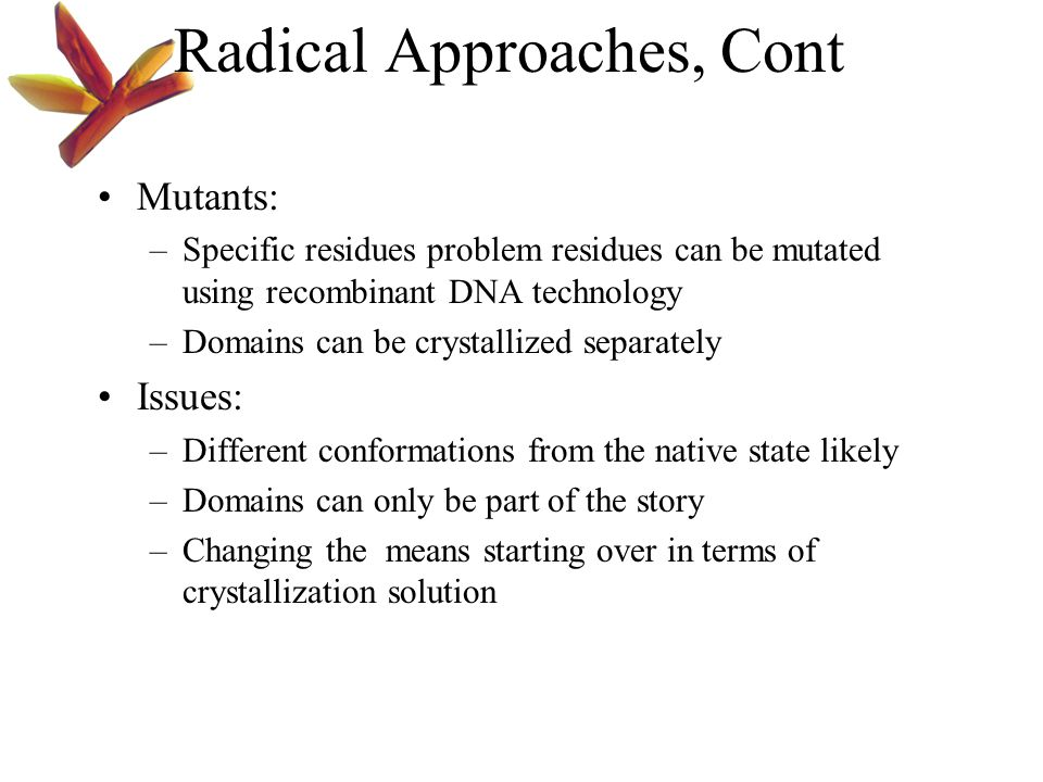 Radical Approaches, Cont